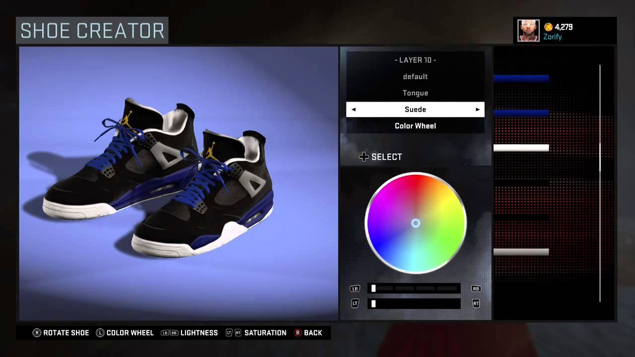 5ba098416062 NBA 2K16 Shoe Creator - Air Jordan 4 Custom