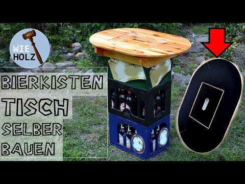 Bierkasten Tisch Stehtisch Selber Bauen Aus Altem Holz Youtube