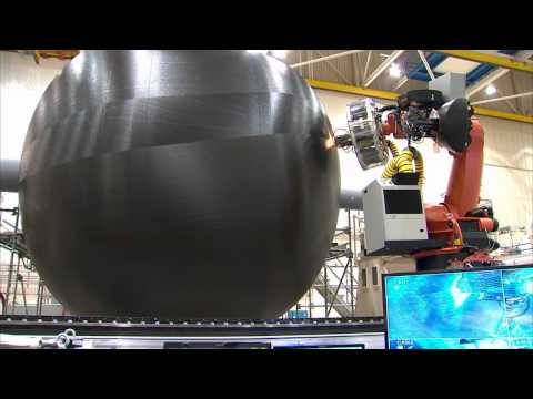 Manufacturing A Large Composite Rocket Fuel Tank - YouTube