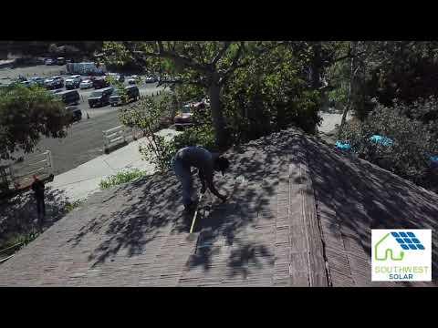 Southwest Solar Rooftop Installation Mulholland Hwy Malibu