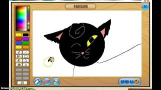 Trying to paint my friends warrior cat on animaljam!