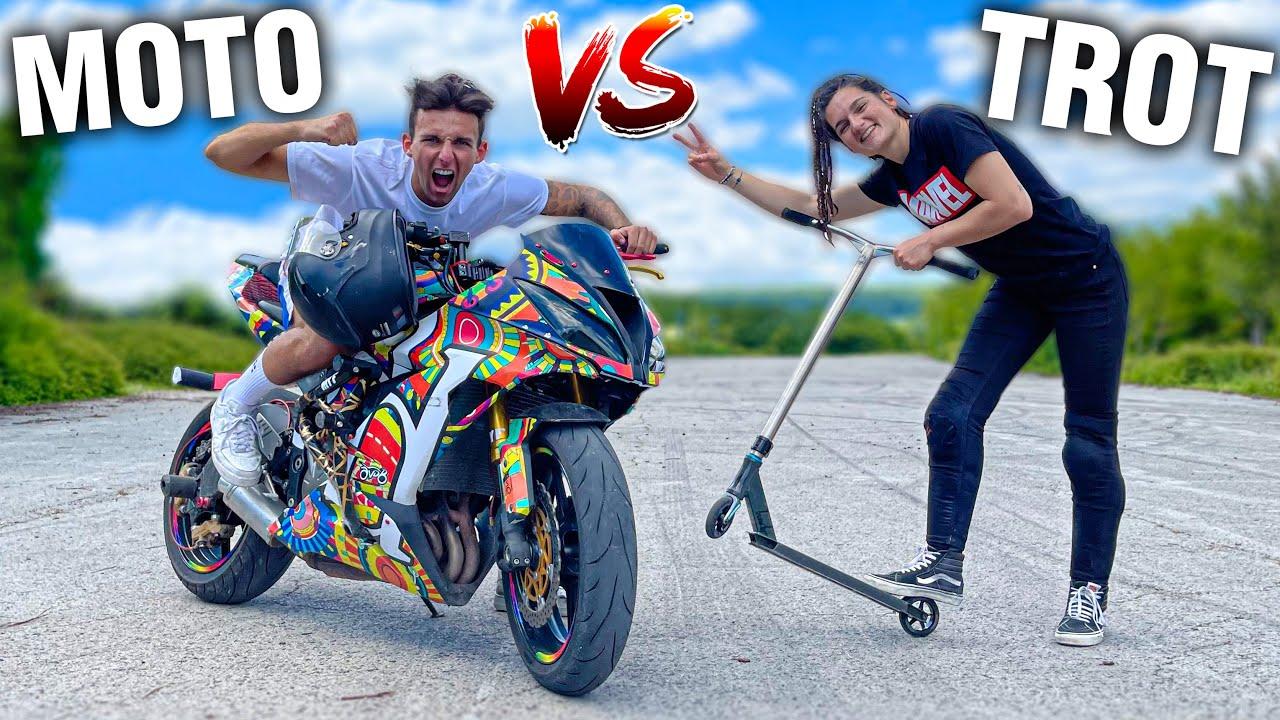 ON ÉCHANGE NOS SPORTS ! (TROTTINETTE VS MOTO) #9 Ft @Sarah Lezito