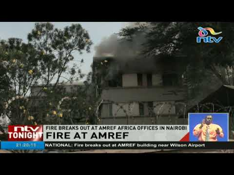 Fire breaks out at AMREF offices