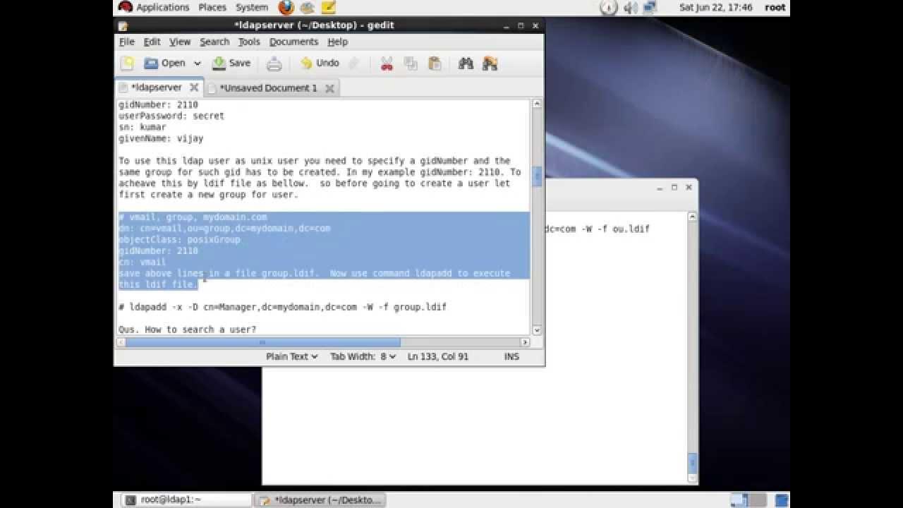 openldap server installation RHEL 6 3