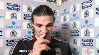 Andy Carroll Post Match Interview - Blackburn v Liverpool (HD)