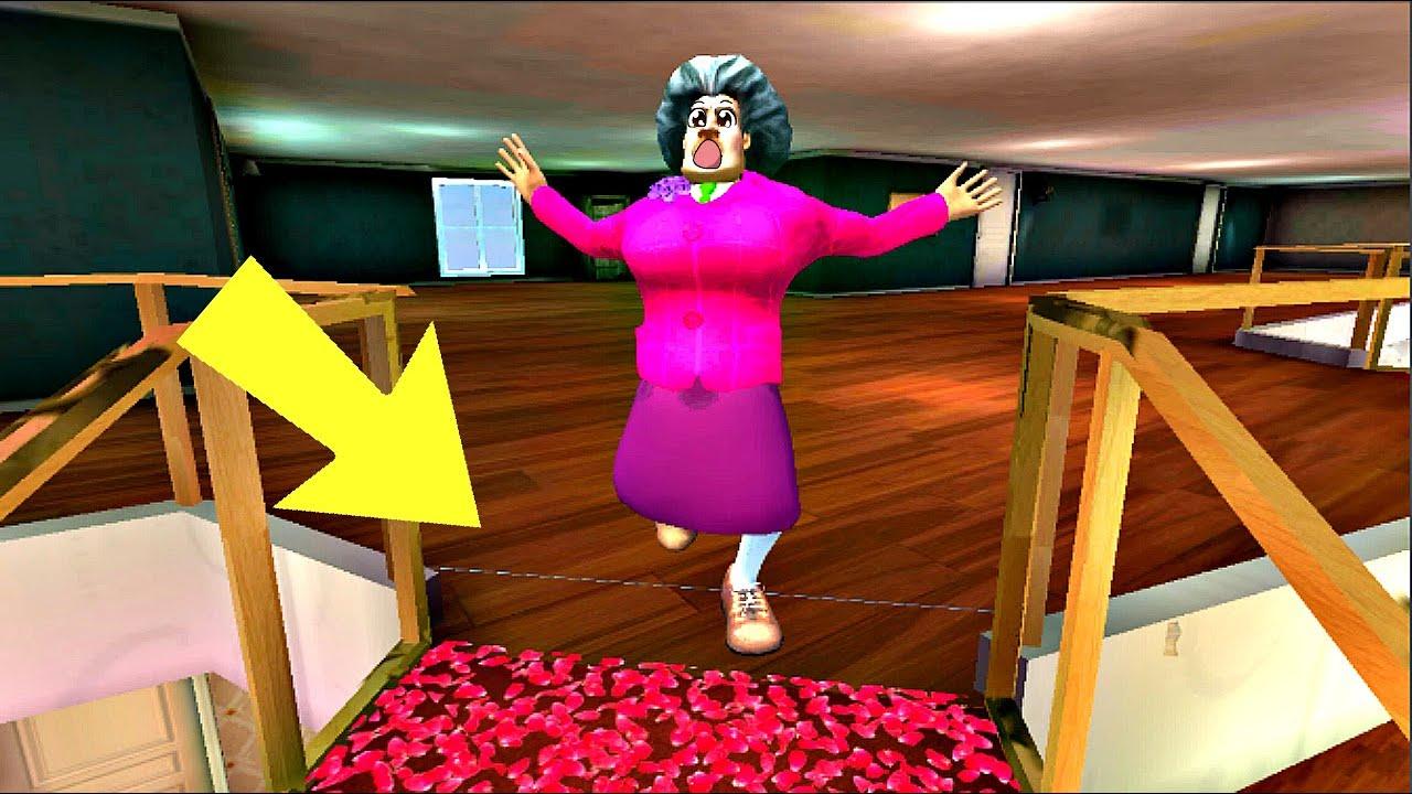 Мисс Ти Сломала Ногу - Пранк над Злой Учительницей. Новый Уровень в Scary Teacher 3d На Подиуме! MyT