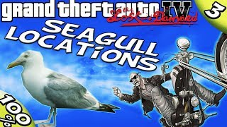 GTA IV TLAD - ALL 50 Seagull Locations [100% Walkthrough]