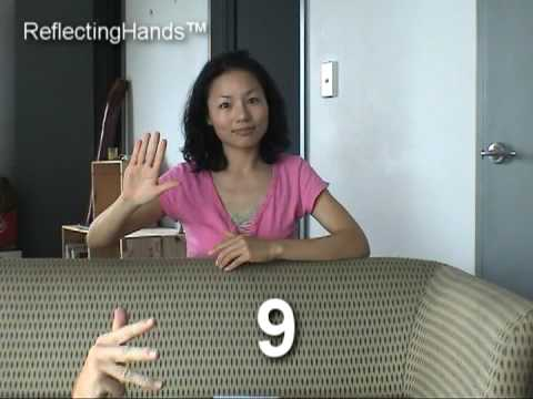NZ Sign Language Numbers