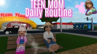 Teen Mom Day Out With Brat DaughterII Roblox Bloxburg