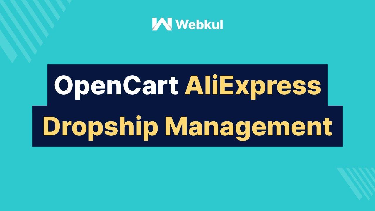 OpenCart AliExpress Dropship Management | Module Configuration