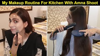 My Everyday Makeup Routine For Kitchen With Amna Recipe Shoot  Life With Amna