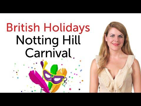 British English Holidays - Notting Hill Carnival