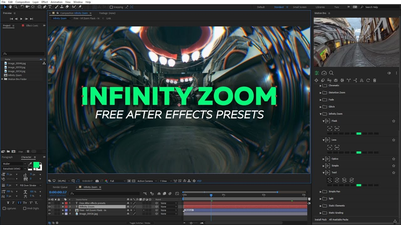 Infinite Zoom - Free After Effects presets [Motion Bro]