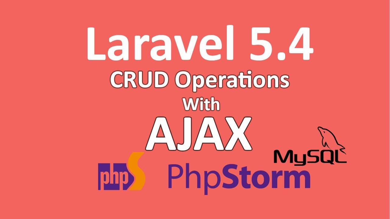 CRUD JQuery Ajax MySQL PhpStorm