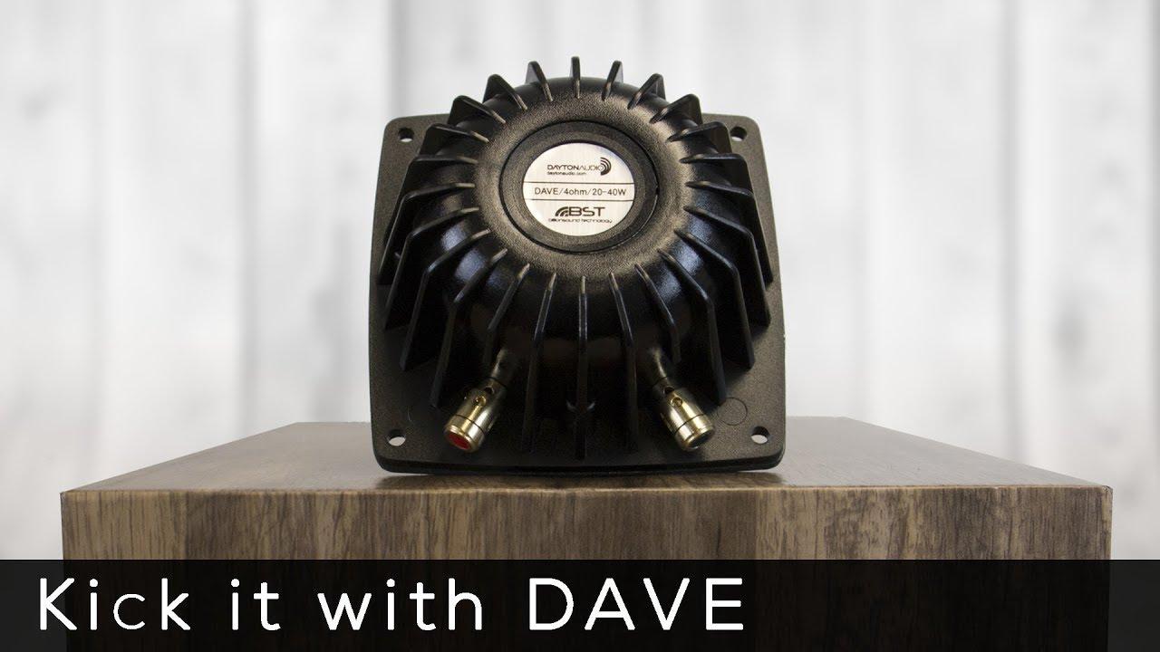 Meet DAVE, the Dayton Audio Vibration Exciter - Product Spotlight
