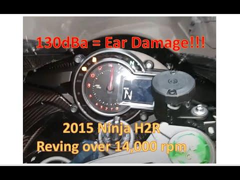 Kawasaki Ninja H2R H2 Redline Over 14000rpm - Ear Deafening @ 130db