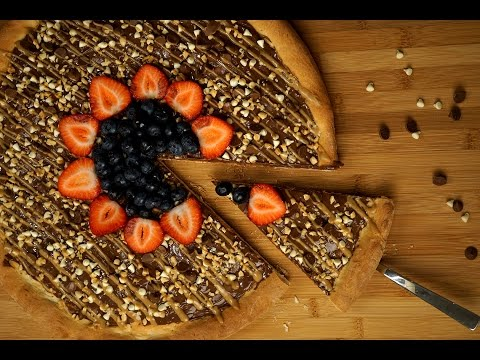 Chocolate Fruit Pizza 巧克力水果披萨