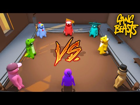 Gang Beasts Online - A BATALHA dos YOUTUBERS!!!
