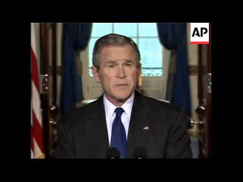 Bush calls Iraq a voice of freedom in the MidEast