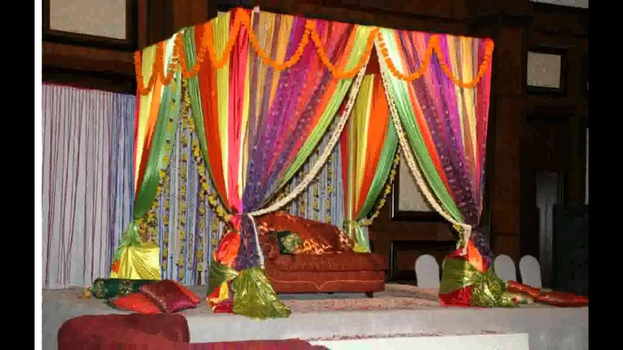 Wedding room decoration ideas youtube for Bedroom curtains designs in pakistan