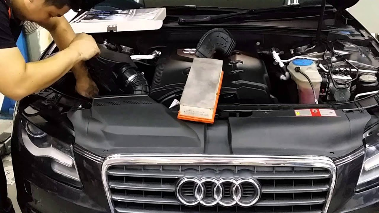 audi a4 with jetex drop in air filter replacement process. Black Bedroom Furniture Sets. Home Design Ideas