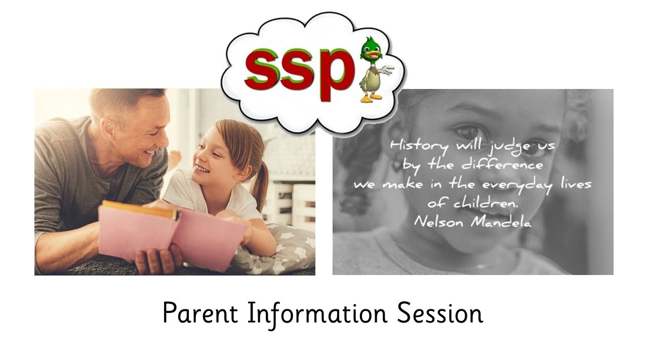 SSP Parent Information Session - Speech Sound Pics Approach