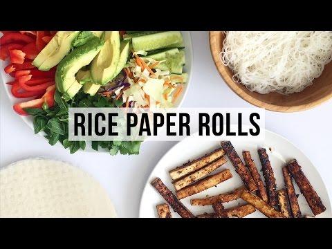 How to Make Rice Paper Rolls | VEGAN & HEALTHY