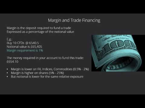 Margin and Trade Financing Workings: Calculating the Notional Values for a CFD?