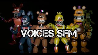 All FNAF Unnightmare Voices SFM