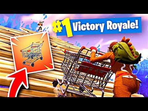 SHOPPING CART on a SKYBASE in Fortnite Battle Royale!