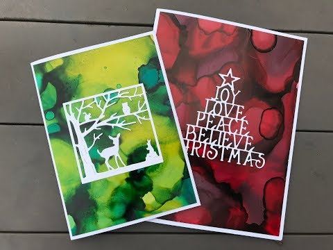 How To Make A Christmas Card Using Alcohol Ink And Yupo Paper