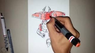 Tapu Bulu (Pokemon Sun and Moon) - Speed Drawing | Labyrinth Draw