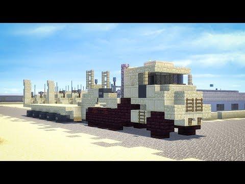 Minecraft Oshkosh M1070A0 Tank Transporter Truck Tutorial