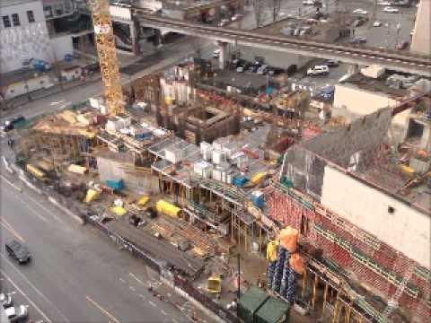 Anvil Centre / Merchant Square time lapse construction project