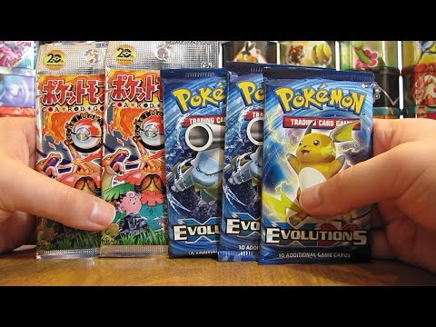 5 XY Evolutions and 20th Anniversary Booster Pack Opening