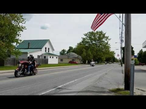 2017 Vermont Rolling Thunder through Milton, Vermont