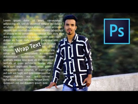 Photoshop Tutorial - Wrap Text In Photoshop In Hindi Urdu thumbnail