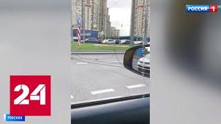 На юго-западе столицы из-за обрыва проводов встали троллейбусы - Россия 24