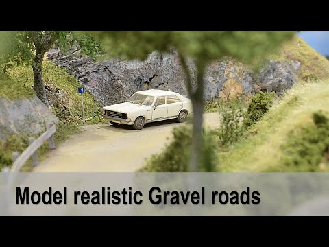 Model realistic gravel road
