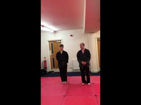 Uki goshi throw and follow up for Te-Ashi-Do Karate