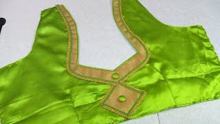 Simple patch work blouse design || women