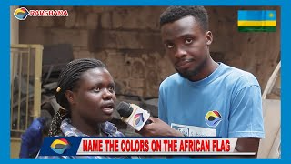 Name The Colors On The African Flag   Street Quiz 🇷🇼   Funny African Videos   Funny Videos  
