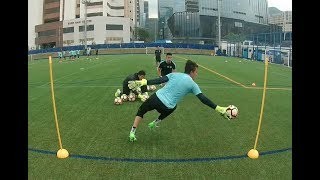 Goalkeeper training. Reaction speed