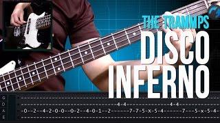 The Trammps - Disco Inferno  (como tocar - aula de contra-baixo)