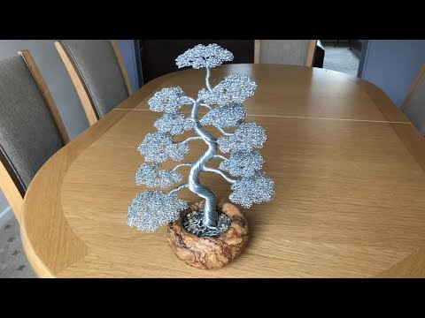 Bonsai Wire Tree Sculpture Timelapse