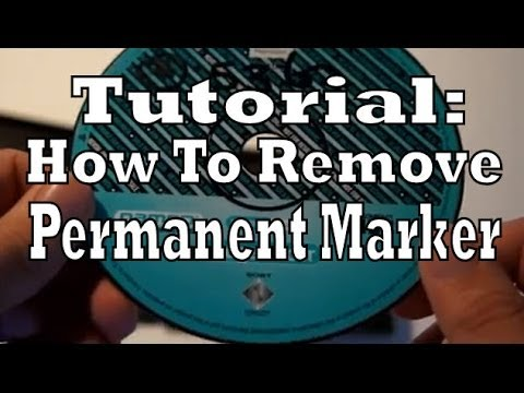 Tutorial How To Remove Permanent Marker From Video Games