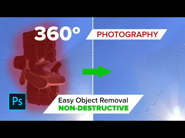 Remove Objects From 360 Panoramic Photography in Photoshop - NON DESTRUCTIVE