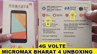 Micromax Bharat 4 UNBOXING AND FIRST LOOK