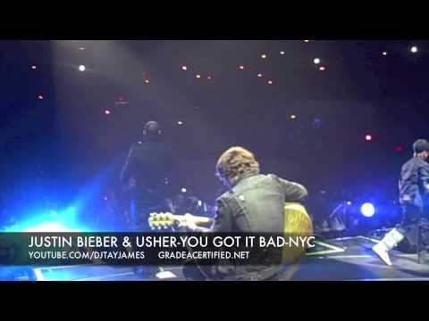 JUSTIN BIEBER & USHER-YOU GOT IT BAD-MADISON SQUARE GARDEN