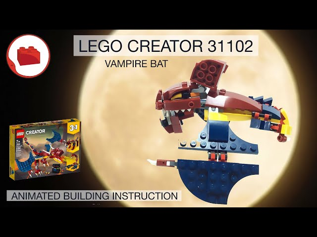 LEGO VAMPIRE BAT MOC - LEGO CREATOR 31102 alternative build instructions Part 2